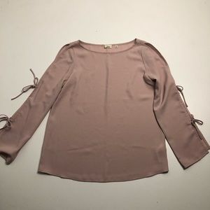 Aritzia Wilfred Pozzi Tie Sleeve Blouse